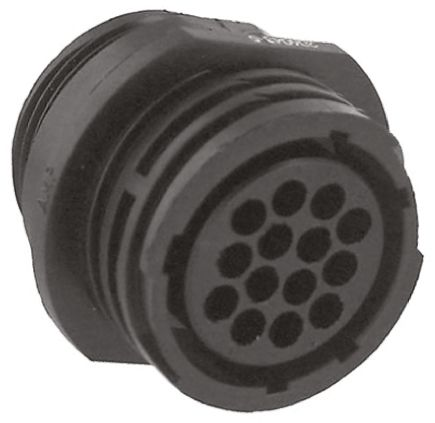 TE Connectivity Connector, 14 contacts In-line Socket, Crimp IP65