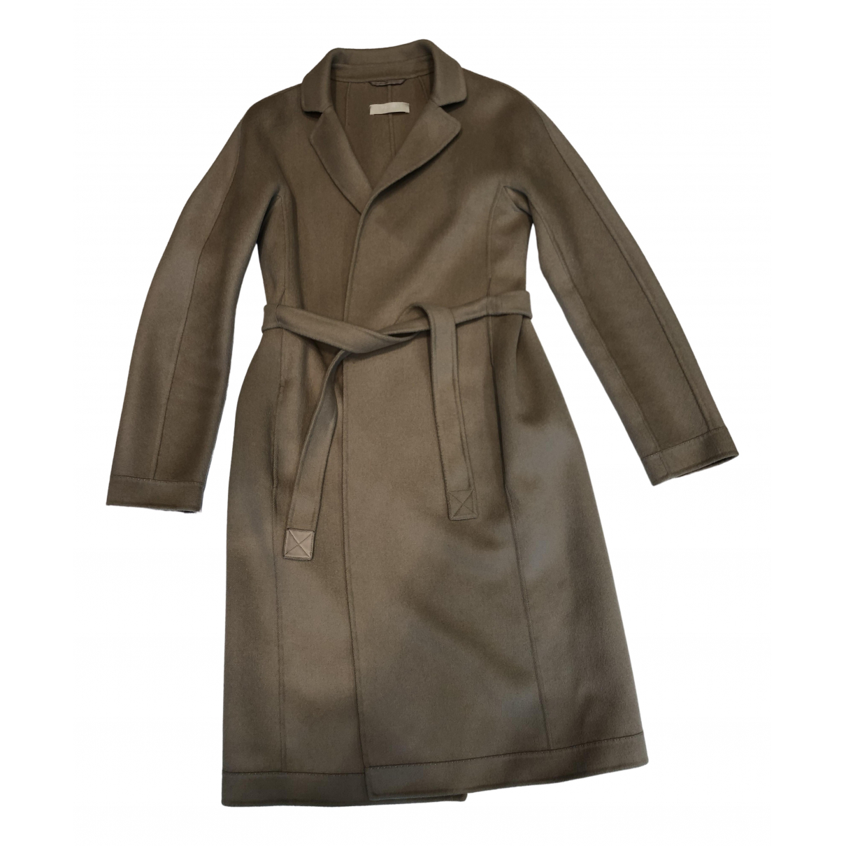 Max Mara 's \N Beige Wool coat for Women 40 IT