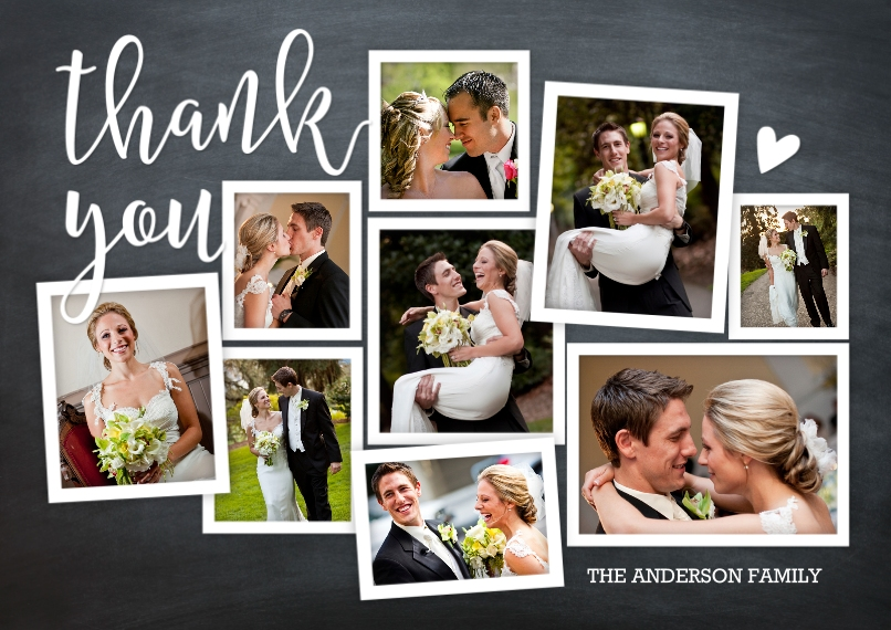 Wedding Thank You 5x7 Cards, Premium Cardstock 120lb, Card & Stationery -Thank You Rustic Collage