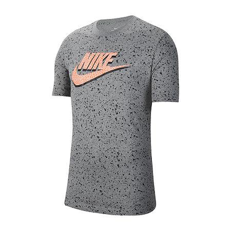Nike Mens Crew Neck Short Sleeve T-Shirt, X-large , Gray