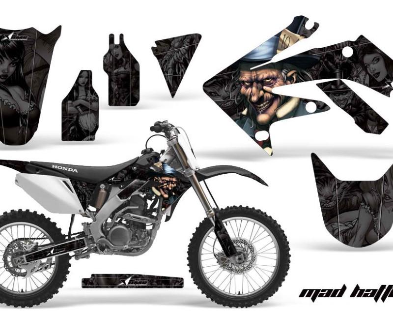 AMR Racing Dirt Bike Graphics Kit Decal Sticker Wrap For Honda CRF250R 2004-2009áHATTER BLACK