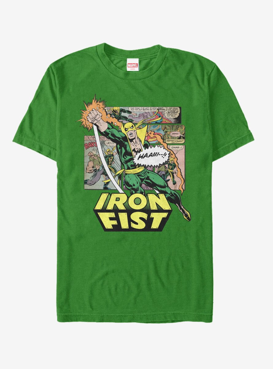 Marvel Iron Fist Comic Book Page T-Shirt
