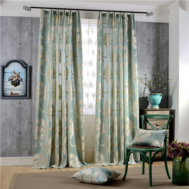 Vintage European Style Jacquard Custom Blackout Curtains for Living Room No Pilling No Fading No off-lining