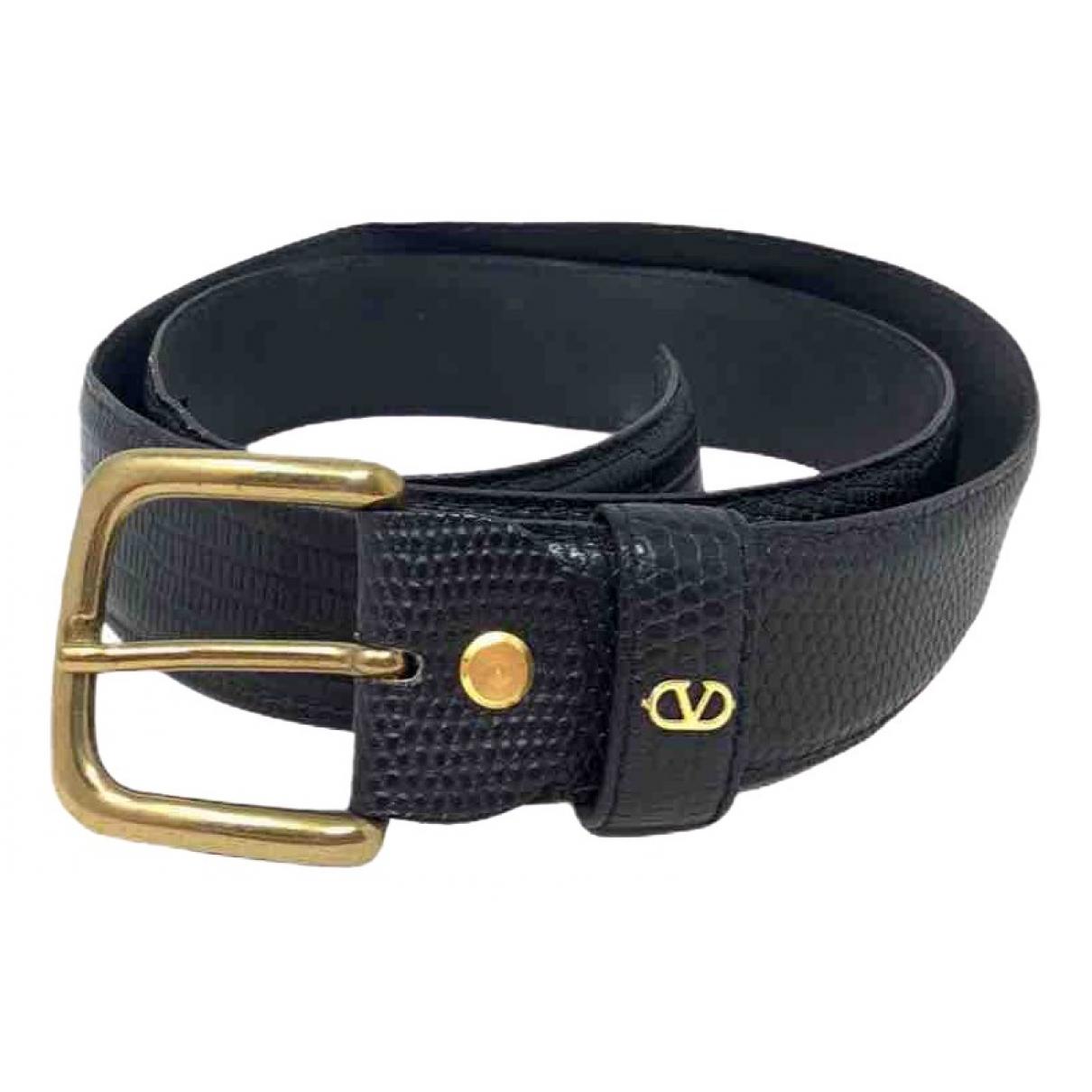 Valentino Garavani \N Black Exotic leathers belt for Women 85 cm