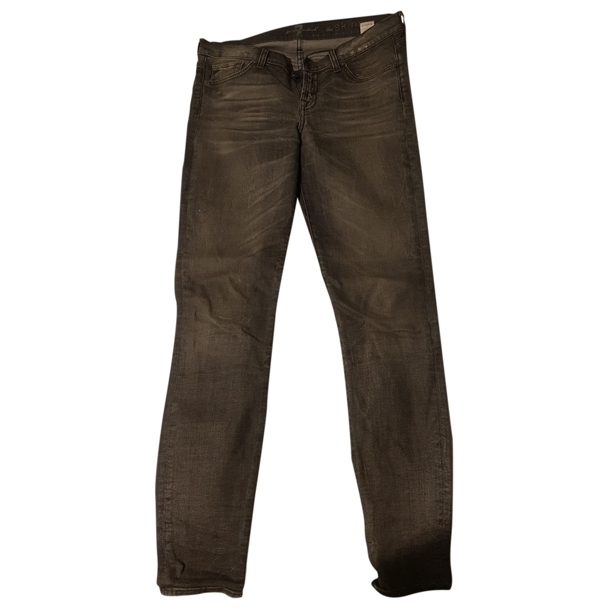 7 For All Mankind \N Grey Denim - Jeans Jeans for Women 28 US
