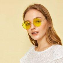 Round Frame Tinted Sunglasses