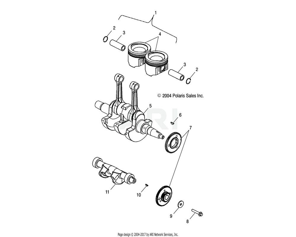 Polaris OEM 2202365 Kit, Piston | [Incl. 2, 3, 4]