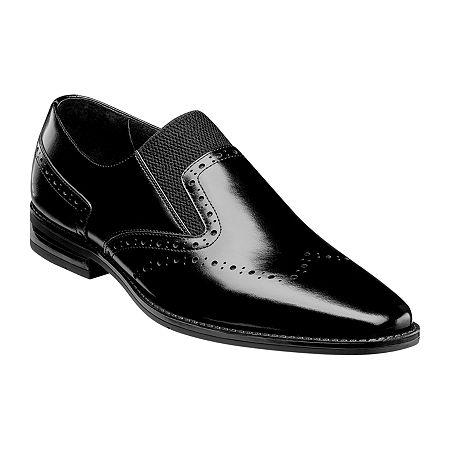 Stacy Adams Mens Kirby Slip-On Shoe, 9 Medium, Black