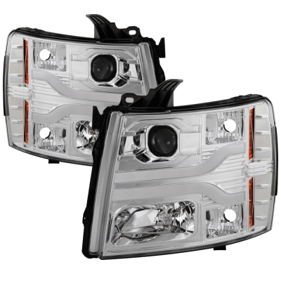 Spyder Auto Group Version 3 Projector Headlights with LED DRL (Chrome) - 5083616