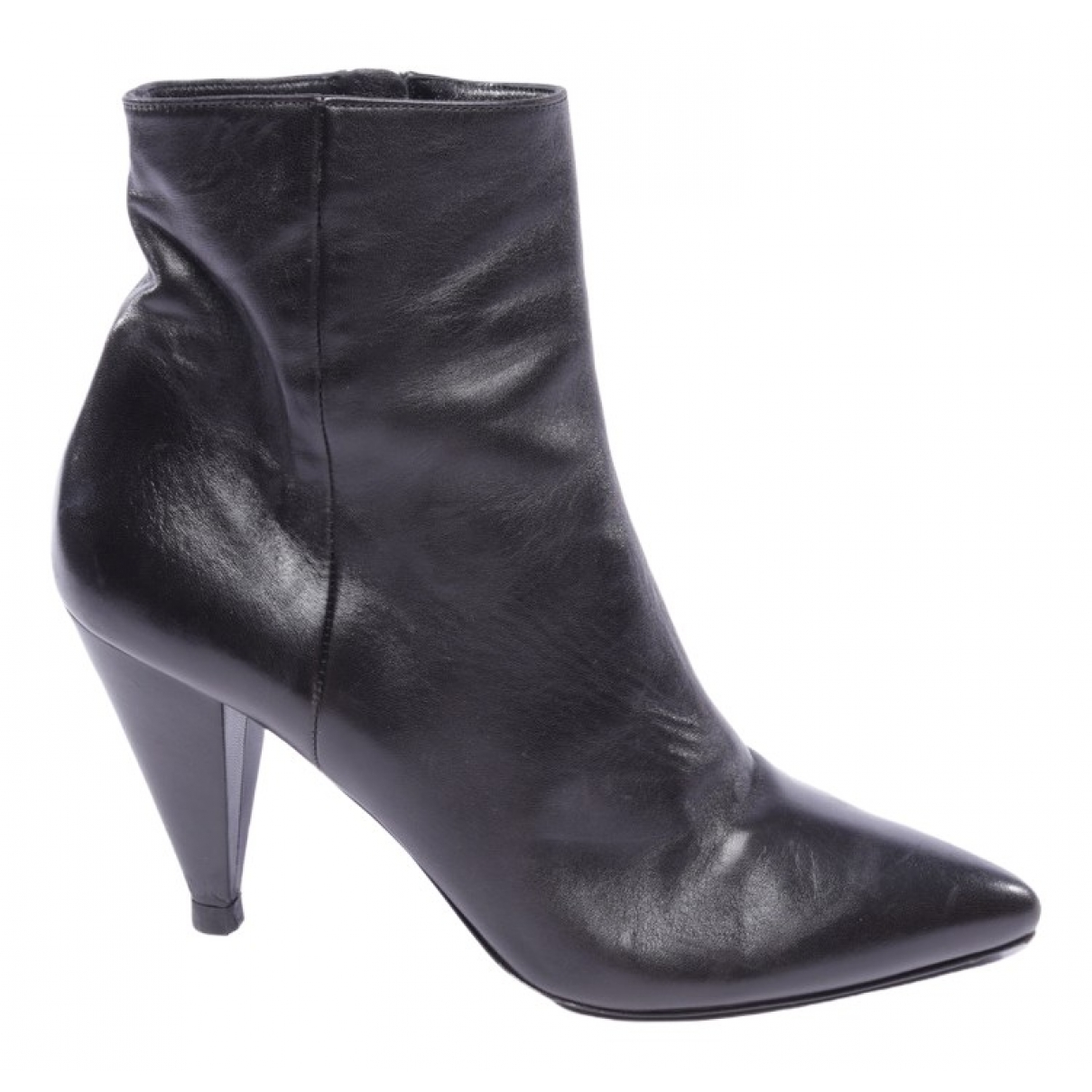 Prada \N Black Leather Ankle boots for Women 41 EU