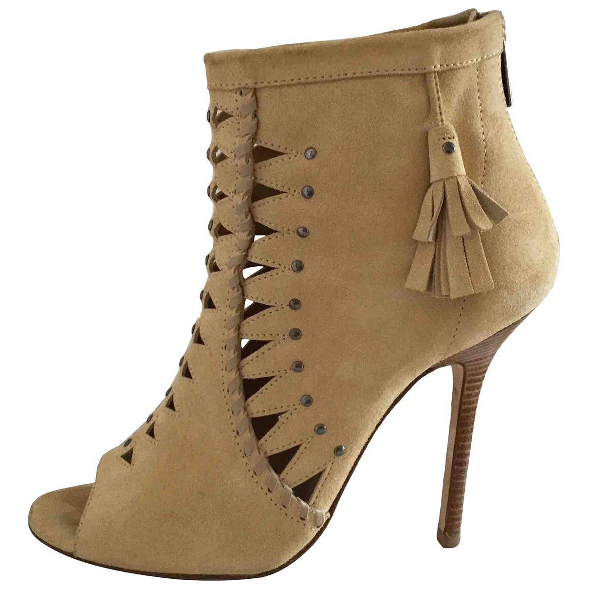 Jimmy Choo \N Beige Suede Ankle boots for Women 37 EU