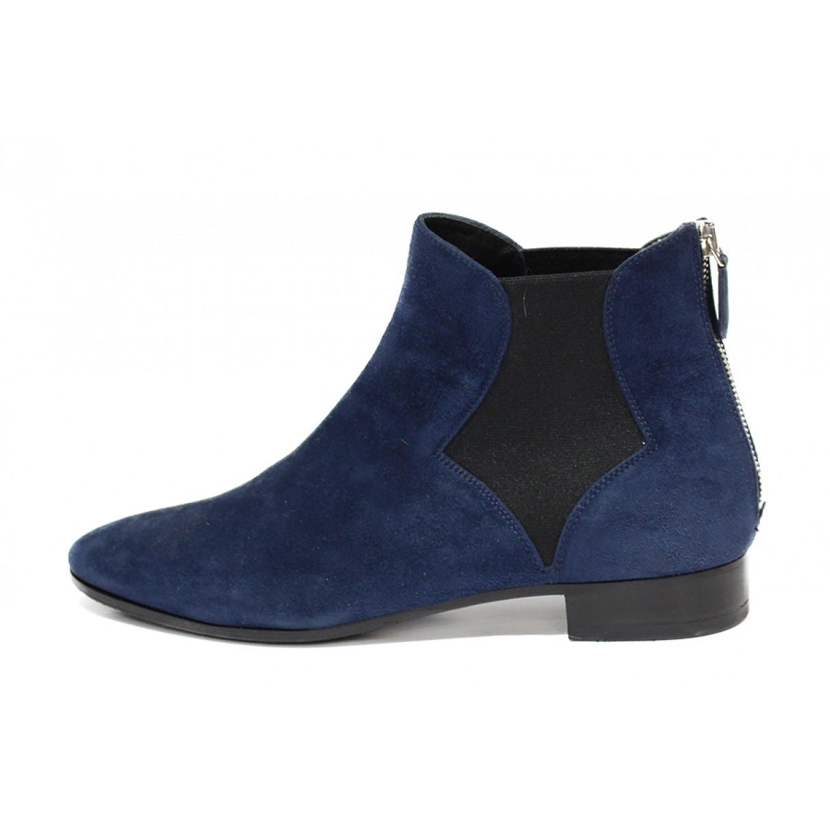 Prada \N Navy Suede Ankle boots for Women 38.5 EU