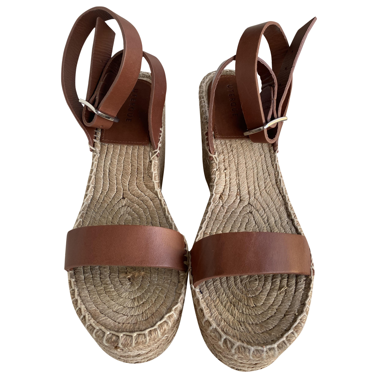 Uterque \N Brown Leather Espadrilles for Women 39 EU