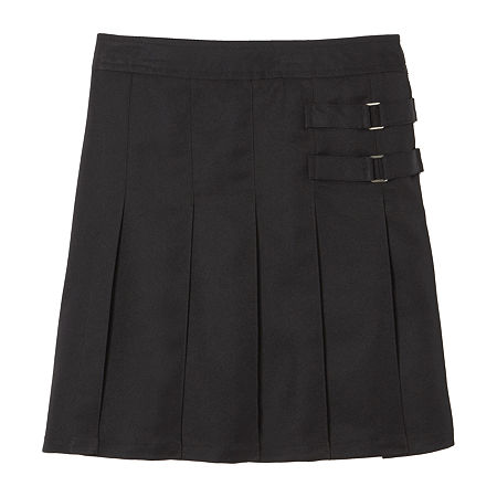 French Toast Little & Big Girls Adjustable Waist Scooter Skirt, 20 , Black