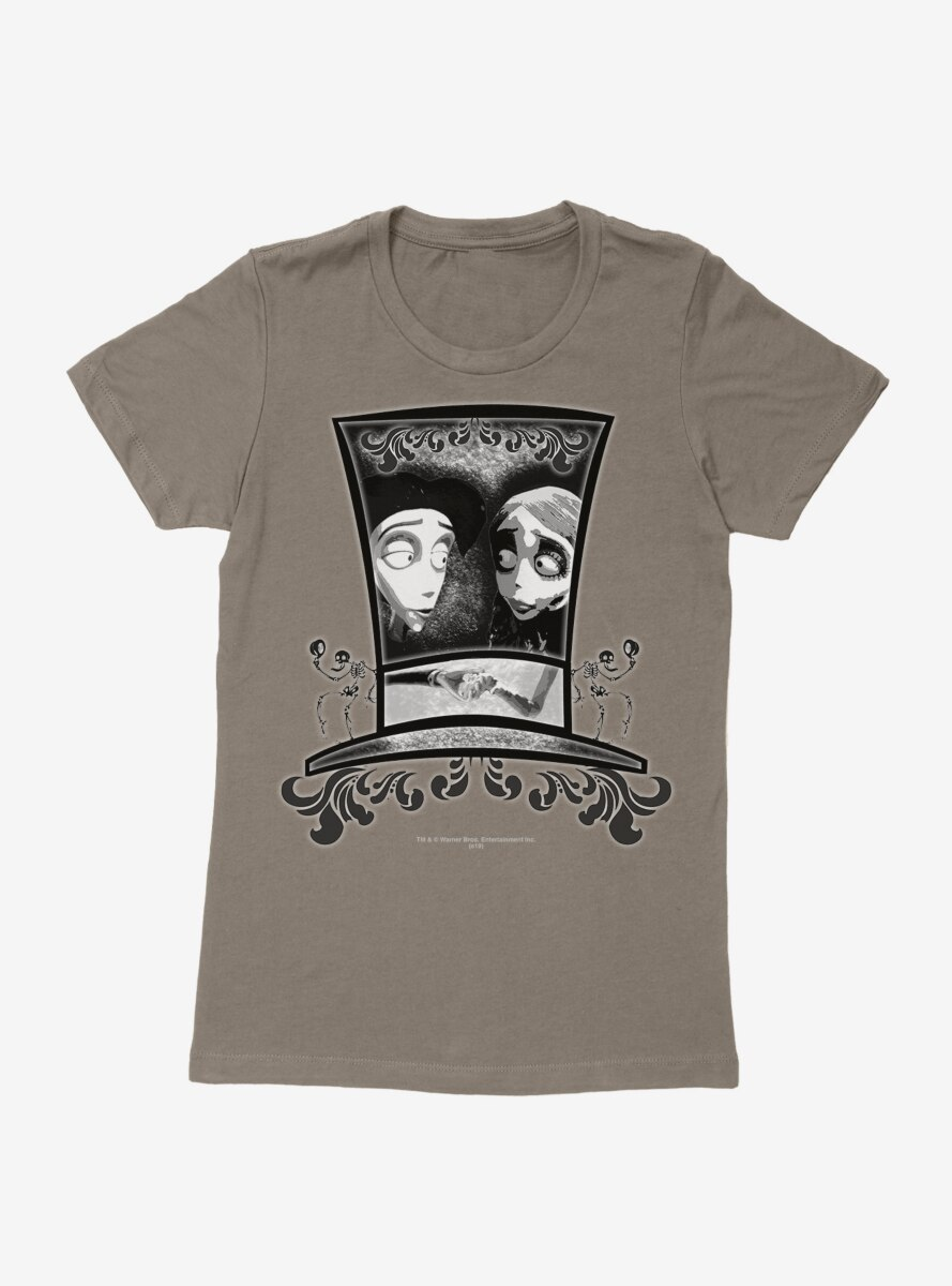 Corpse Bride Emily And Victor Womens T-Shirt