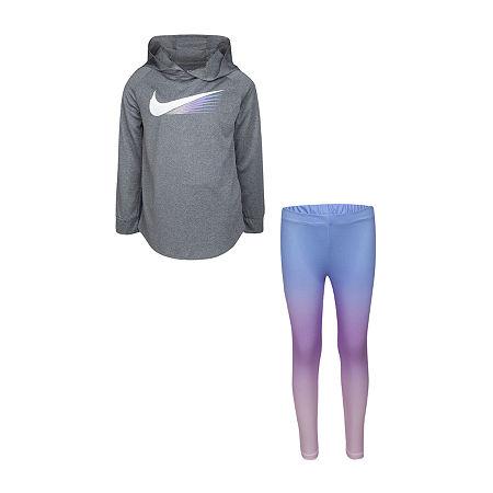 Nike Little Girls 2-pc. Legging Set, 5 , Blue