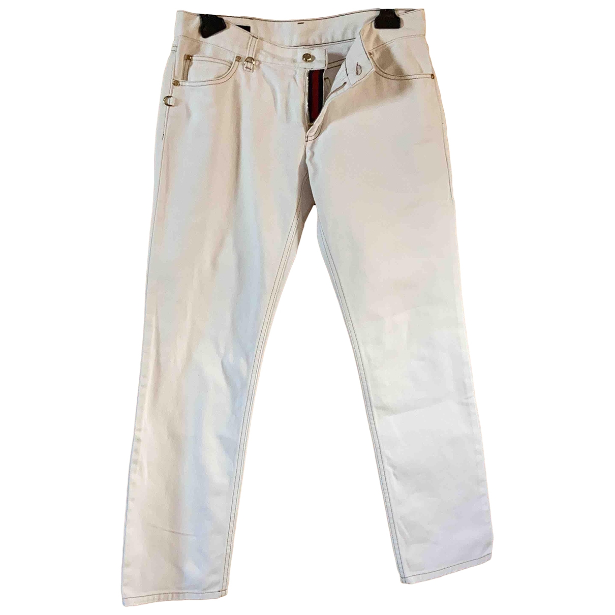 Gucci \N White Cotton Trousers for Women 42 IT