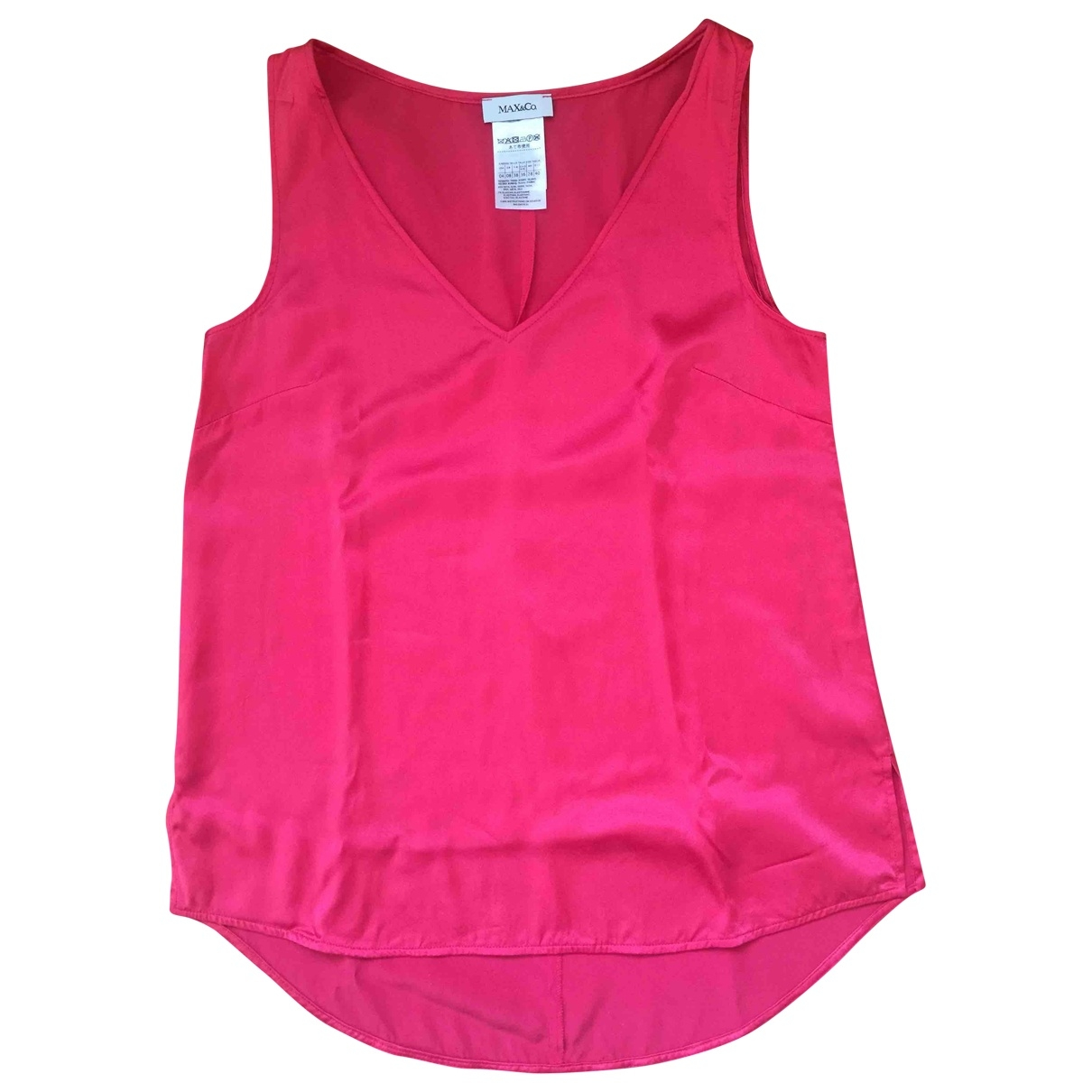 Max & Co \N Pink Silk  top for Women 40 IT