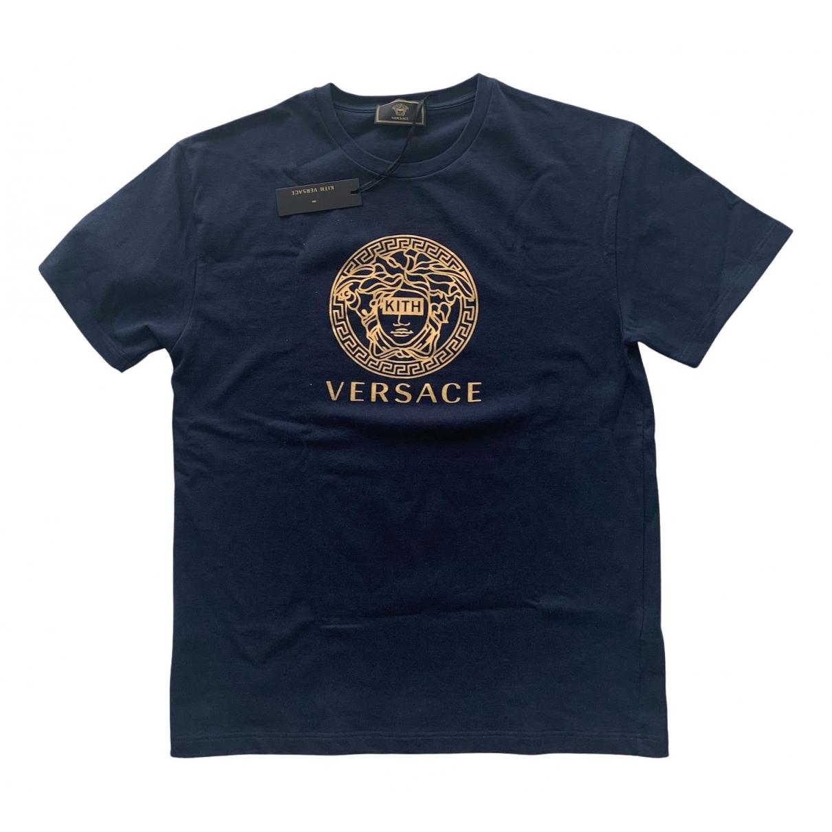 Versace X Kith \N Blue Cotton T-shirts for Men L International