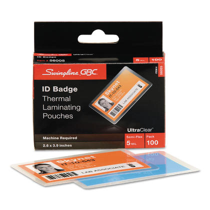 Swingline@ GBC@ UltraClear thermique laminage poches - 2-5/8 x 3-7/8