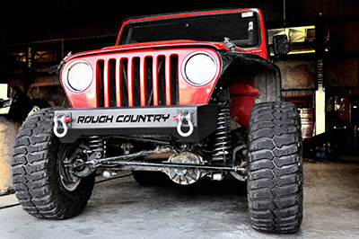 Rough Country Stubby Front Bumper (Black) - 1011