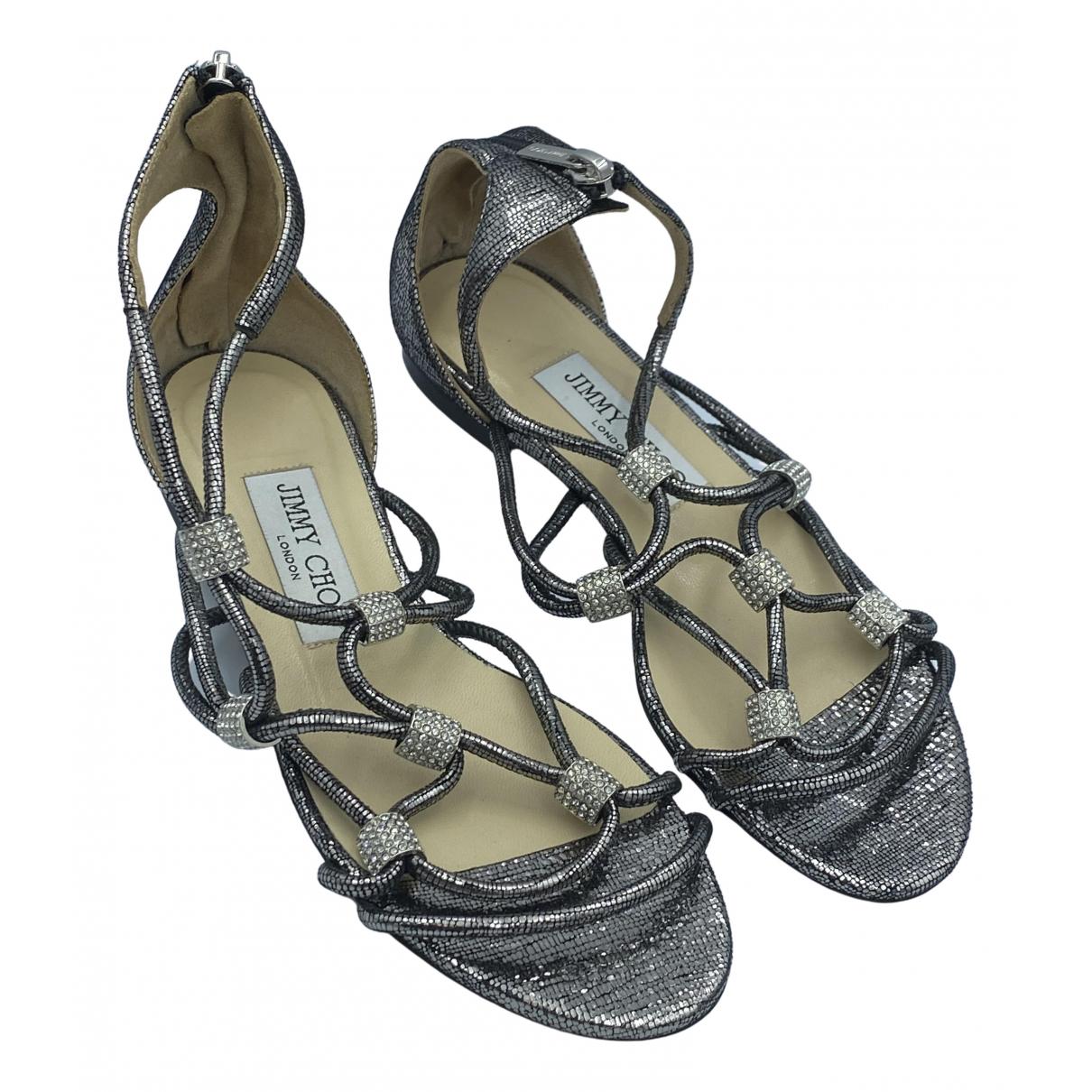Jimmy Choo \N Silver Leather Sandals for Women 35 EU
