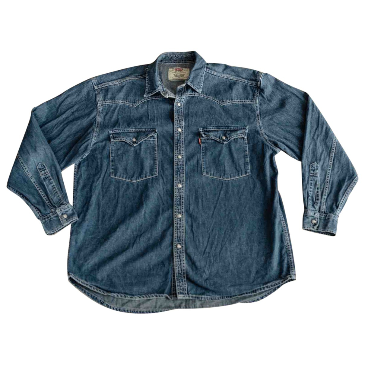 Levi's \N Navy Cotton Shirts for Men L International