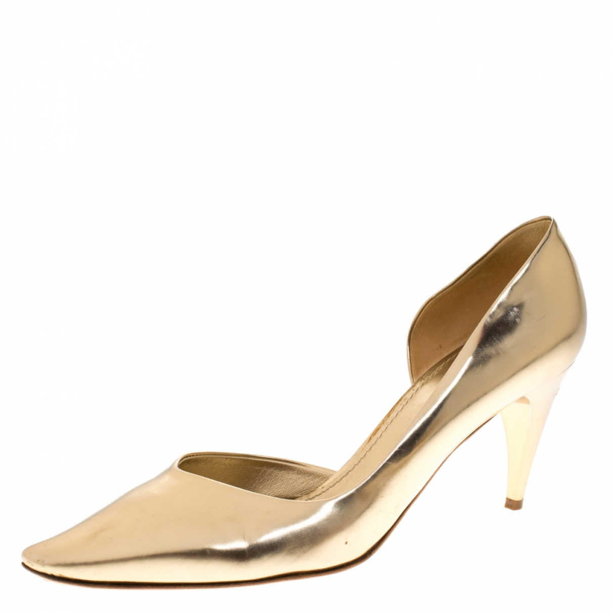 Louis Vuitton \N Gold Leather Heels for Women 8.5 US