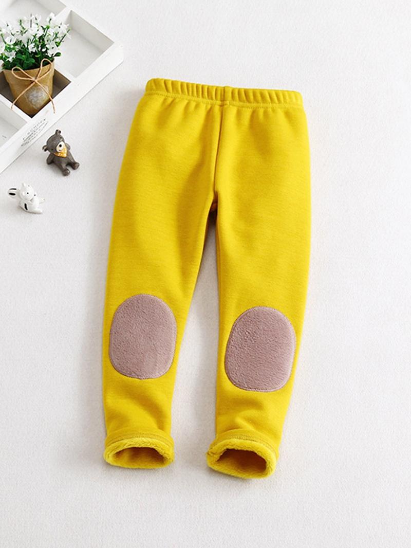 Ericdress Patchwork Fleece Girls' Leggings