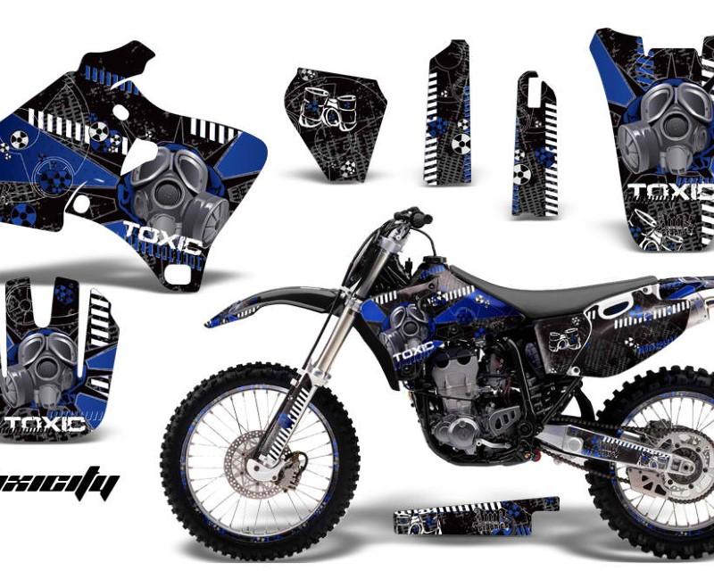AMR Racing Graphics MX-NP-YAM-YZ 250F/400F/426F-98-02-TX U K Kit Decal Wrap + # Plates For Yamaha YZ 250F/400F/426F 1998-2002áTOXIC BLUE BLACK