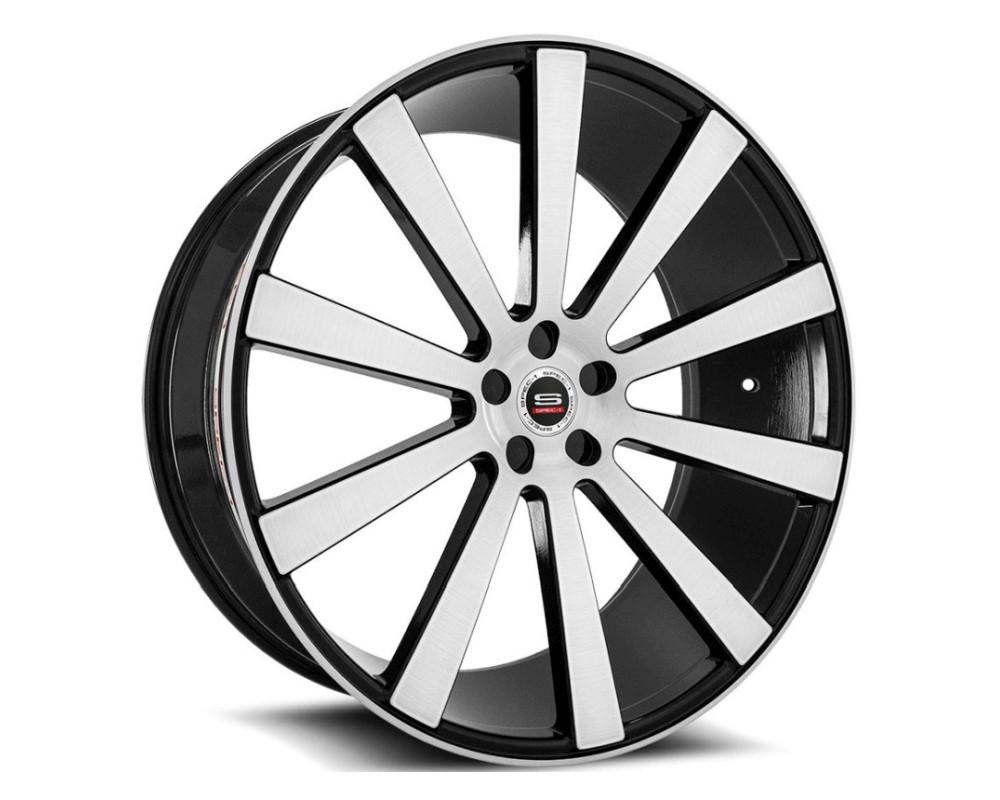 Spec-1 SPL-202 Wheel Luxury Series 22x10.5 Blank 20mm Gloss Black Brushed