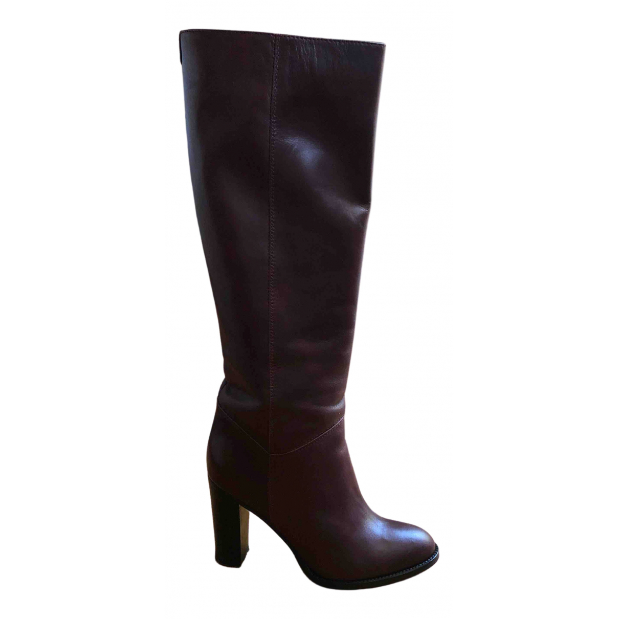 Max & Co \N Burgundy Leather Boots for Women 39 EU