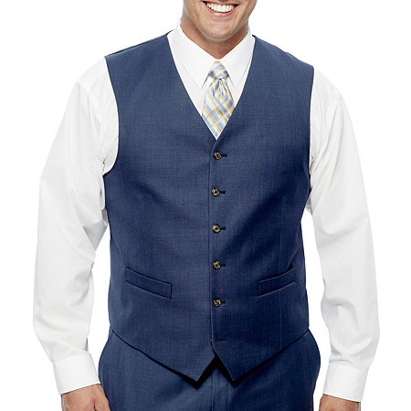 Stafford Travel Wool Blend Stretch Suit Vests Big and Tall, 4x-large , Blue