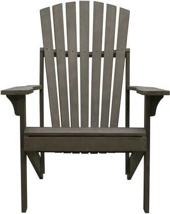 Renaissance Collection V1823 Outdoor Patio Adirondack Chair with 1 Year Warranty  Adirondack Back and Hand-Scraped Acacia Hardwood Construction in