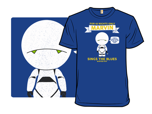 Marvin Sings The Blues T Shirt