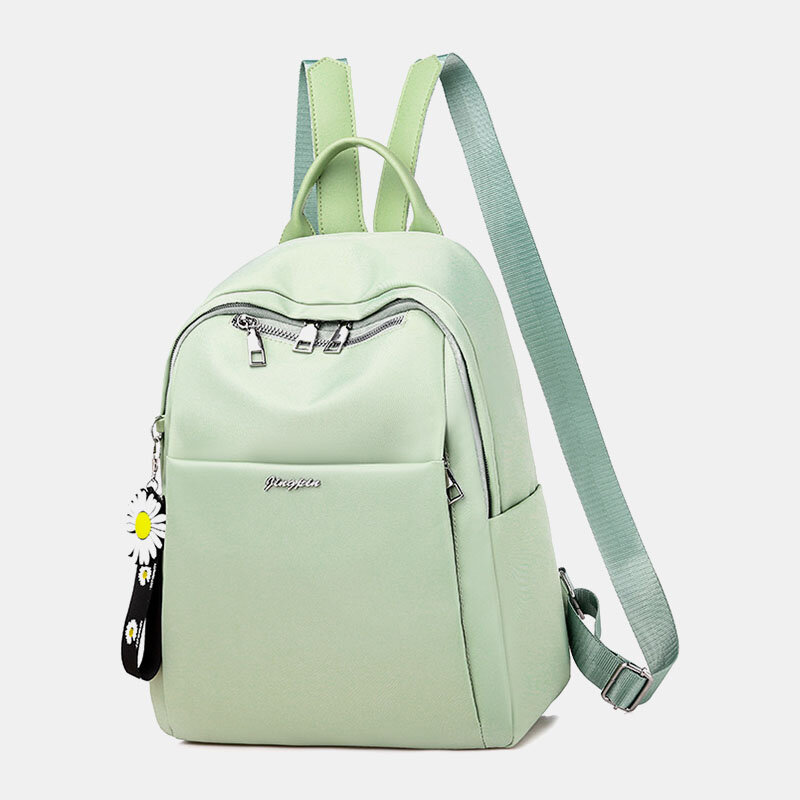 Women Oxford Daisy Ornament Anti theft Waterproof Laptop Pack Backpack