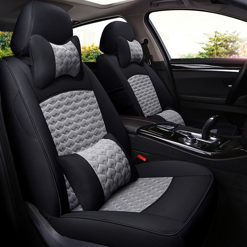 Luxury Color Block Simple Style Cloth Art Custom Car Seat Cover