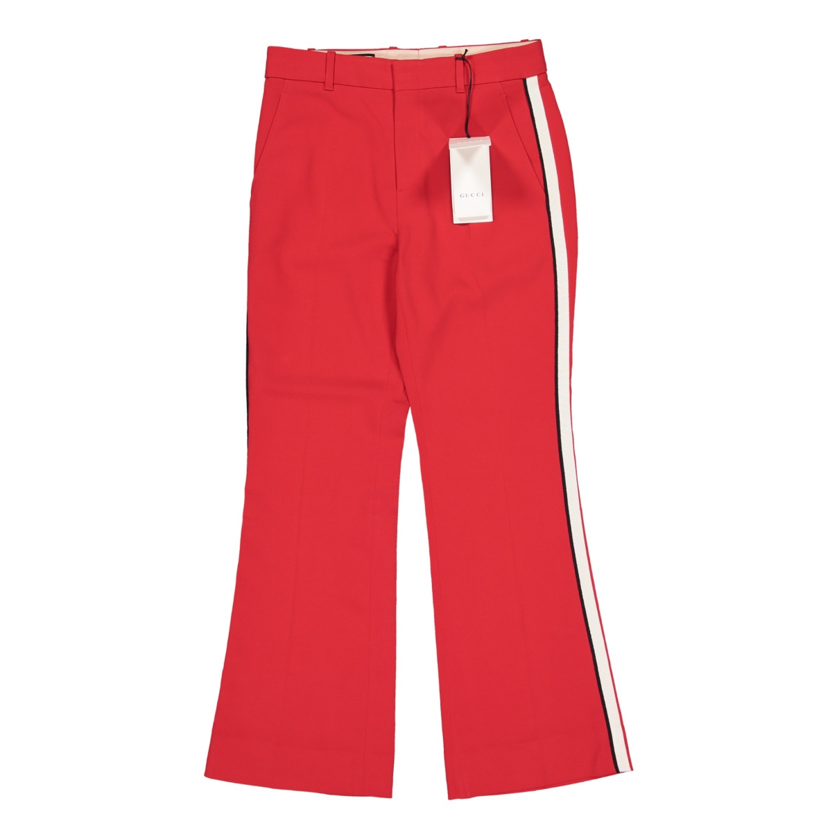 Gucci \N Red Trousers for Women 40 IT