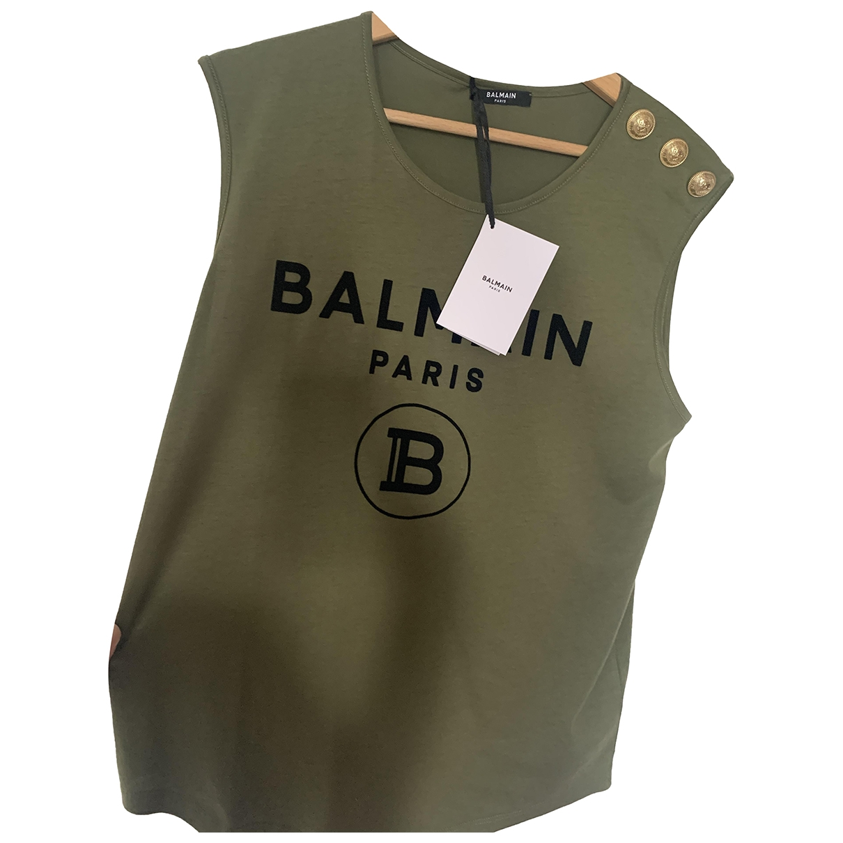 Balmain \N Khaki Cotton  top for Women S International