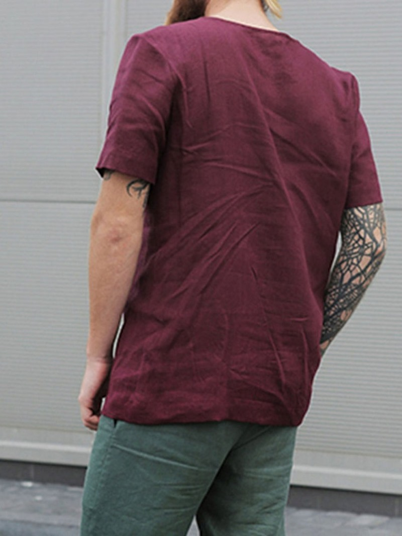 Ericdress Plain Round Neck Loose Short Sleeve T-shirt