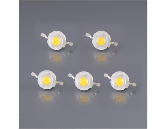 High Power 1W 110-120LM 3000-3200K Warm White LED Light Beads 5Pcs/Set