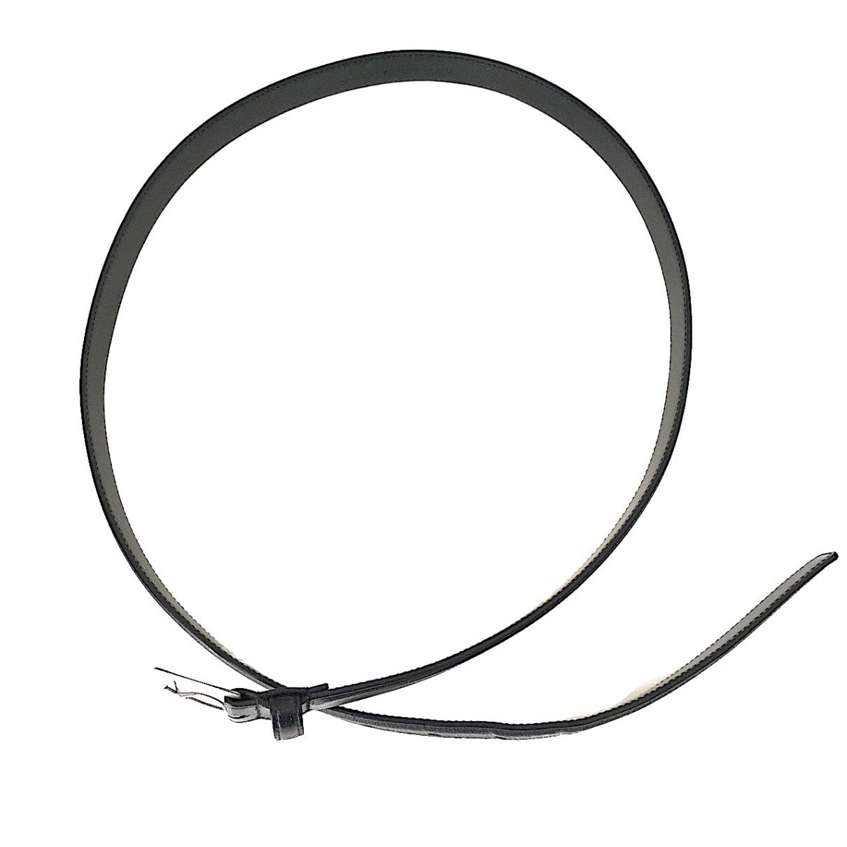 Saint Laurent \N Black Leather belt for Women 95 cm
