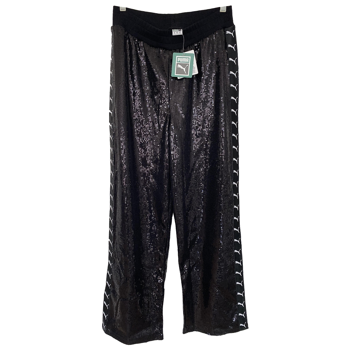 Puma \N Black Cotton Trousers for Women S International