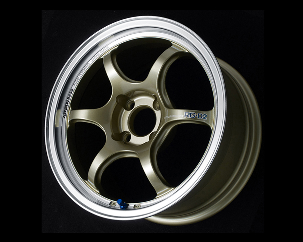 Advan RG-D2 Wheel 17x7.5 4x100 38mm Machining & Champagne Gold