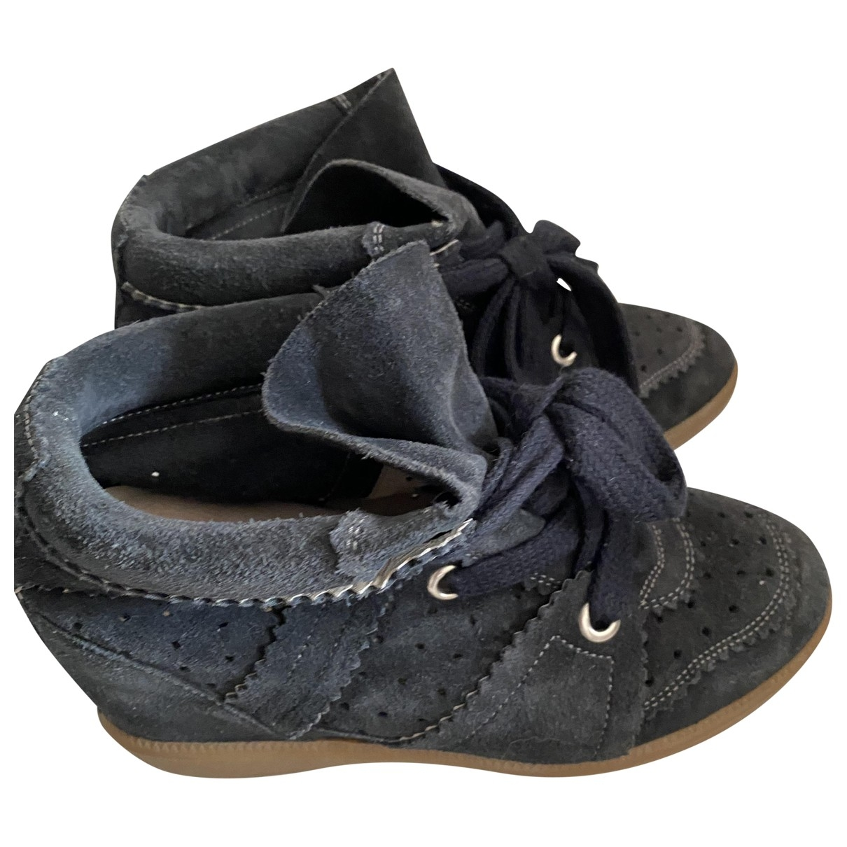 Isabel Marant Betty Navy Suede Trainers for Women 35 EU