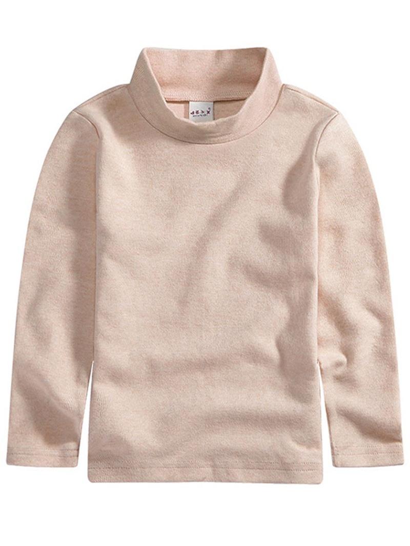 Ericdress Plain Turtleneck Warmth Girl's T-Shirt