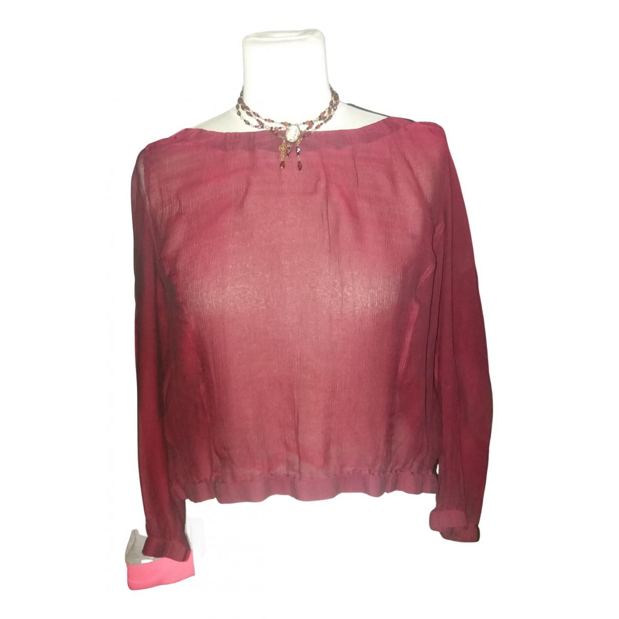 Dries Van Noten \N Burgundy Silk  top for Women 40 FR