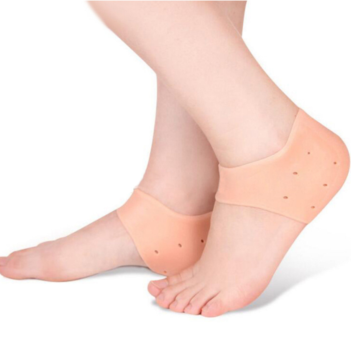 1 Pair Silicone Foot Heel Sleeve Moisturizing Anti-Cracking Anti-Dry Chock Heel Cover Foot Care