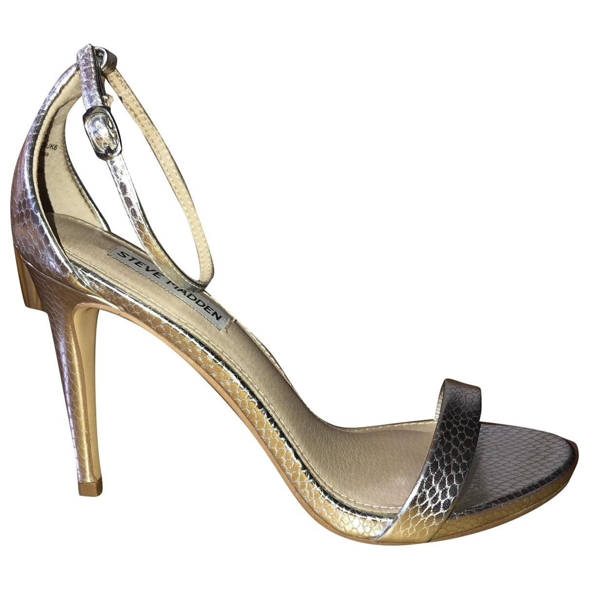 Steve Madden \N Metallic Leather Heels for Women 39 EU