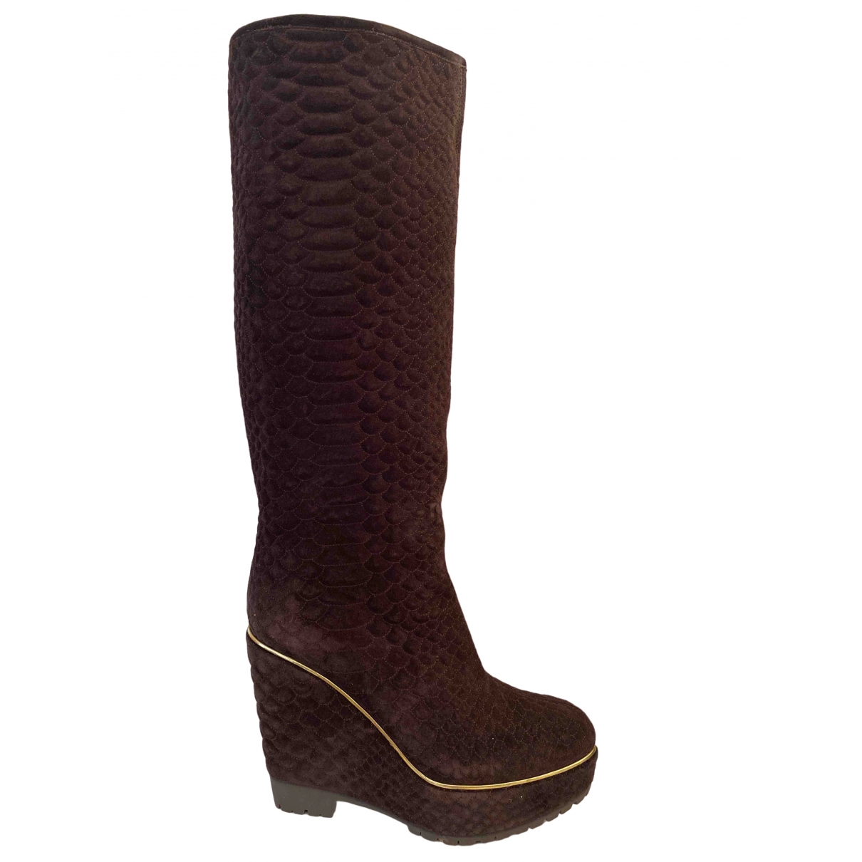 Sergio Rossi \N Brown Suede Boots for Women 41 EU
